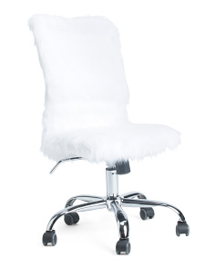 Zayn Faux Fur Office Chair