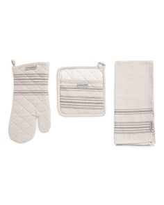 Made In India 4pc Oven Mitt & Pot Holder Set