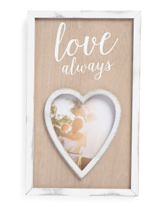 5x6 Love Always Wood Photo Frame