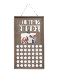 12x21 Good Times Wood Bottle Cap Holder