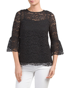 Ruffle Cuff Lace Top