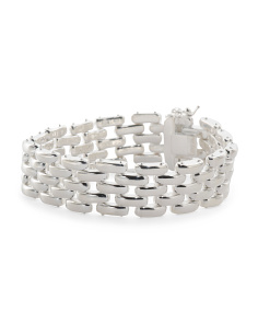 Made In Italy Sterling Silver Link Statement Bracelet