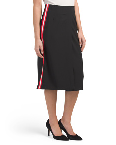 Juniors Side Stripe Skirt