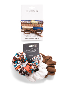8pk Assorted Hair Ties And Scrunchies