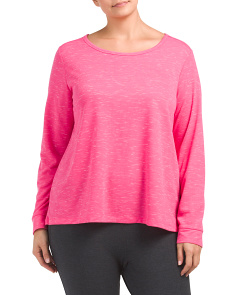 Plus Active Scoop Neck Top