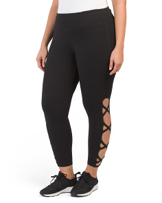Plus Lattice Side Active Leggings
