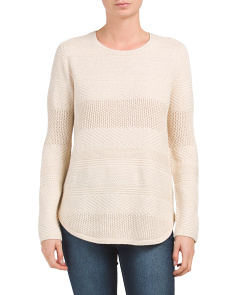 Sweater With Round Hem