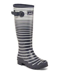 Striped High Shaft Rain Boots