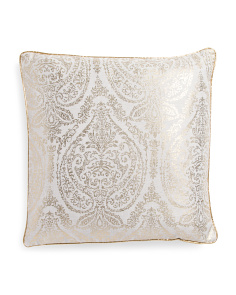 20x20 Nelly Gold Metallic Pillow