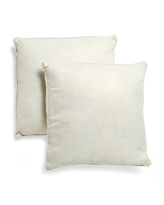Set Of 2 20x20 Metallic Linen Look Pillows