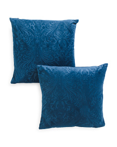 20x20 2pk Suri Embossed Velvet Pillows