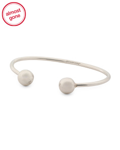 Made In Mexico Sterling Silver Ball Cuff Bracelet