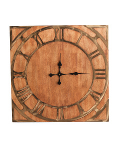 26x26 Wood Wall Clock