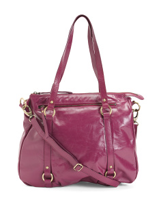 Leather Convertible Crossbody