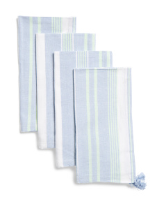 Made In India Set Of 4 Daniela Stripe Napkins