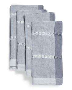 Made In India 4pc Tonal Weave Napkins