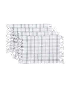 Made In India 4pc Mia Plaid Placemats