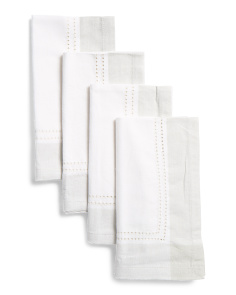 Made In India Set Of 4 Tonal Border Napkins