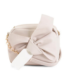 Knot And Bow Embellished Crossbody