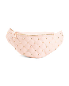 Faux Pearl Studded Fanny Pack