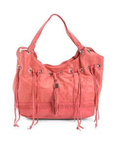 Whipstitch Trim Satchel