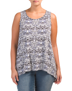 Plus Paisley Garden Hi-lo Hem Top