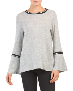 Made In USA Brushed Bell Sleeve Top