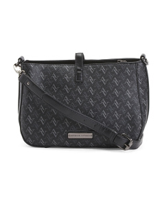 Signature Logo Top Zip Crossbody