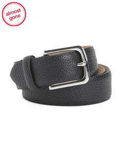 Men's Pebble Leather Belt
