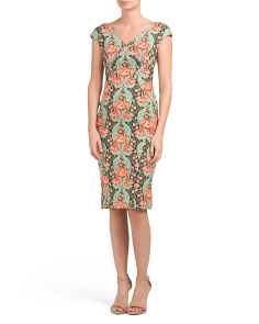 Made In USA Bellflower Jacquard Dress