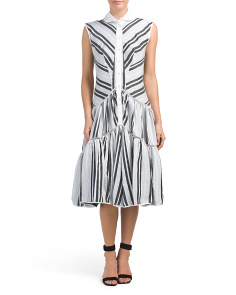 Striped Organdy Dress