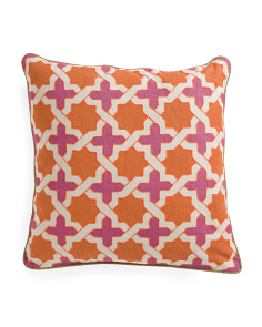 Made In India 22x22 Medallion Linen Pillow