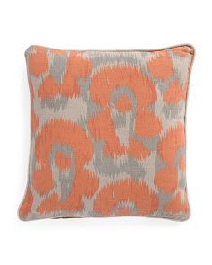 Made In India 18x18 Linen Leopard Print Pillow