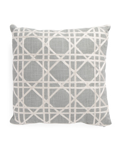 20x20 Embroidered Lattice Pillow