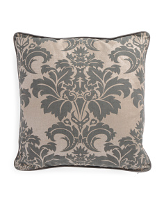 Made In India 20x20 Metallic Fleur De Lis Pillow