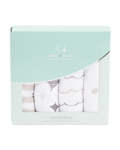 4pk Shine Classic Swaddle Blankets