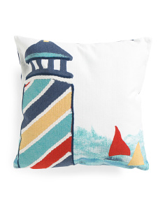 20x20 Indoor Outdoor Lighthouse Pillow