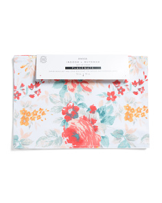 4pk Floral Indoor Outdoor Placemats