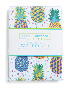 Pineapple Easy Care Indoor/outdoor Tablecloth