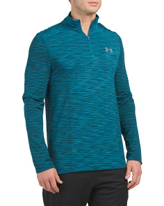 Tech Jacquard Quarter Zip Top