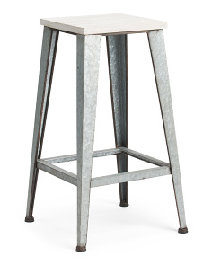 Metal Wood Stool