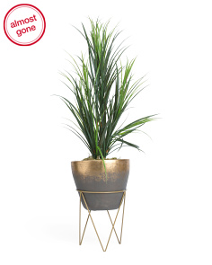 Faux Grass Planter