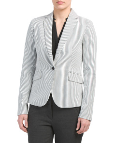 Striped Button Front Jacket