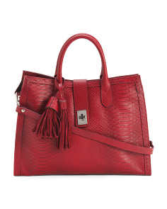 Made In Italy Medium Leather Tote