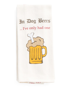 2pc Dog Beers Kitchen Towel Set