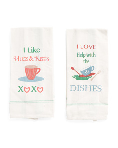 Made In India Hugs & Kisses Kitchen Towels
