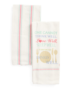 The Well Dine Well Kitchen Towels