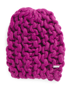 Super Chunky Open Knit Beanie