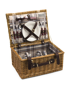 Bristol Picnic Basket With Plates