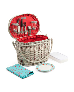 Picnic Basket With Service For 2